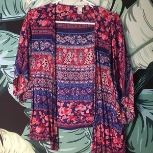 Forever 21 Sweaters - Forever 21 Tribal Print Kimono Cardigan